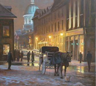 Montreal Painting - Early Winter Old Montreal by Tony Bianco
