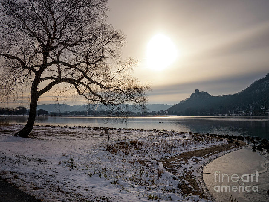 Early Winter Sugarloaf with Tree by Kari Yearous