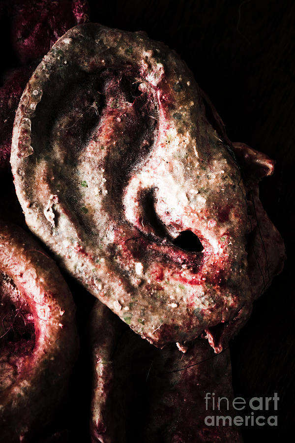 Spooky Photograph - Ears And Meat Hooks  by Jorgo Photography - Wall Art Gallery