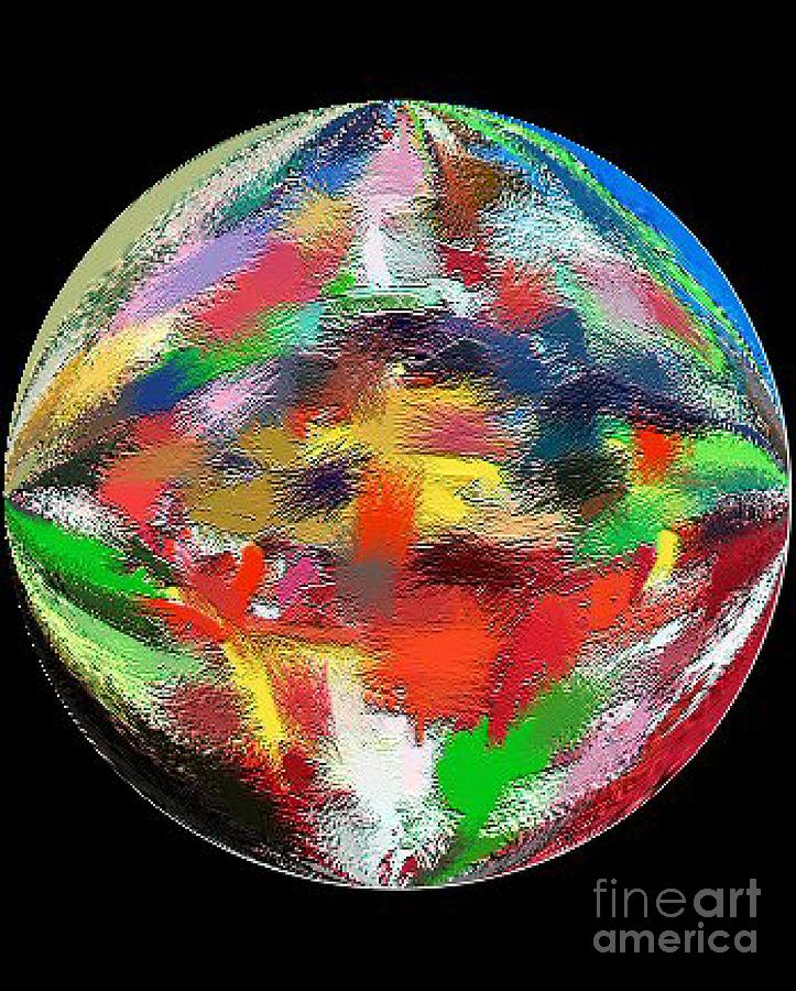 Abstract Painting - Earth 3 And A Half Billion Bc by Don Phillips