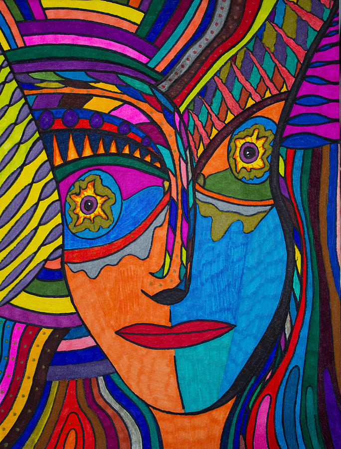 abstract face painting earth and aqua mask abstract face by marie jamieson
