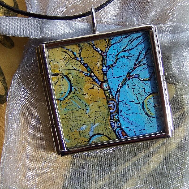 Original Painting - Earth And Sky Art Tree by Dana Marie