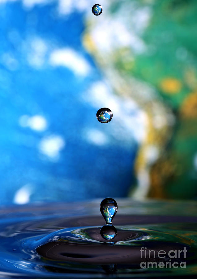 Water Photograph - Earth Day Drips by Roddy Atkinson