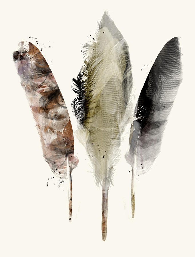 Feathers Painting - Earth Feathers by Bri Buckley
