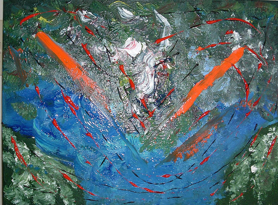 Abstract Painting - Earth From Space by Lon