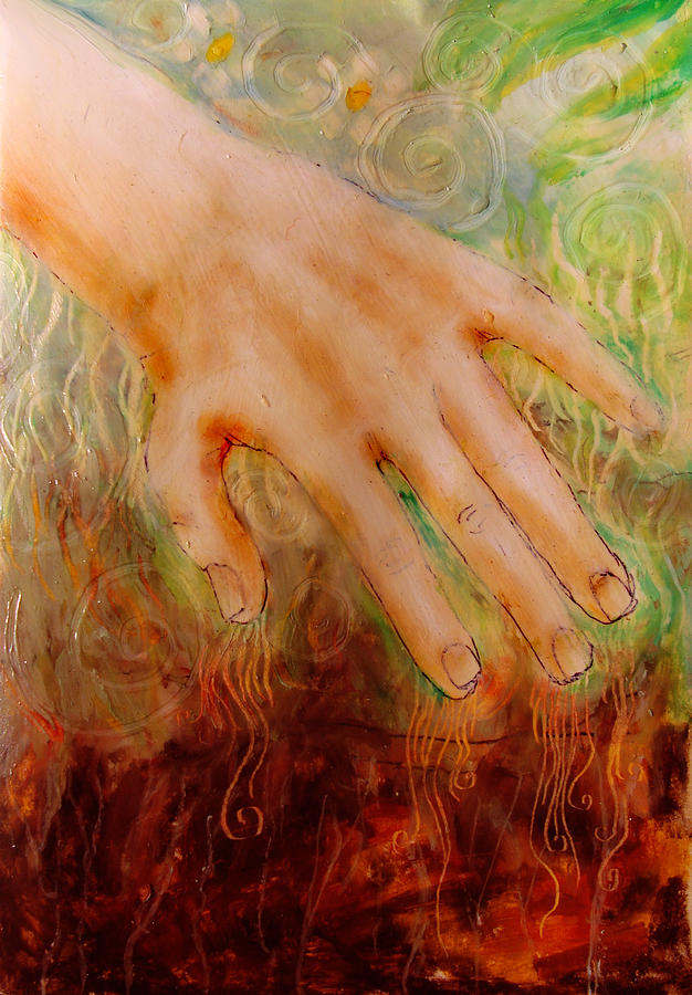 Earth Drawing - Earth Hand by Courtney Barriger