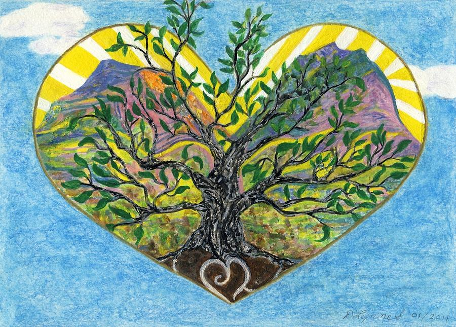 Image result for heart in leaf paintings