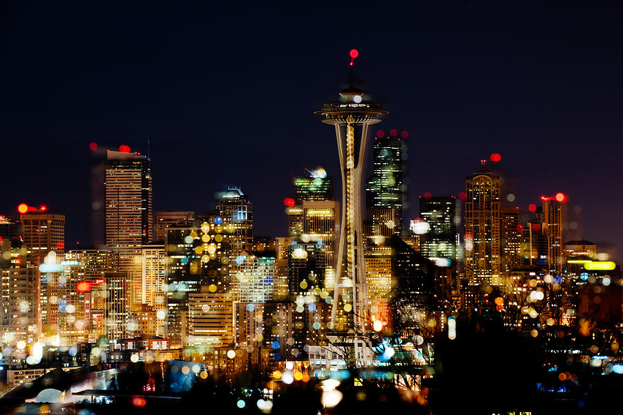 Seattle Photograph - Earth Hour Spots A348 by Yoshiki Nakamura