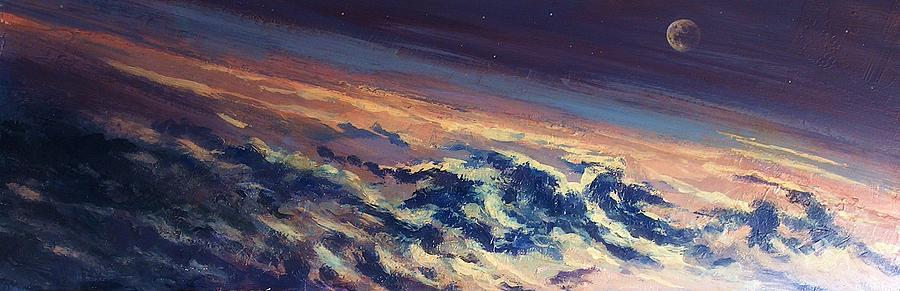 3-d Painting - Earth Light Series Lights On  by Len Sodenkamp