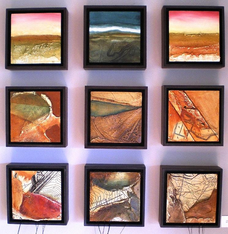 Landscape Painting - Earth Maps And Scapes by Anthony  Harris