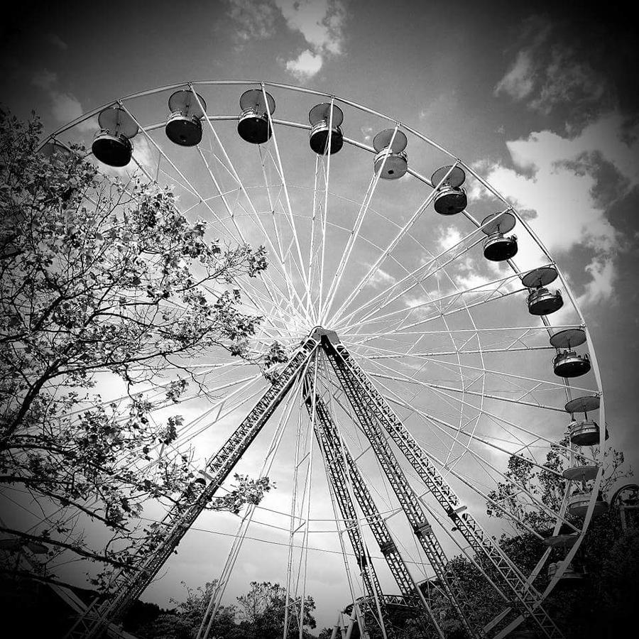 Ferris Wheel Digital Art - Earth Speed by Katie Irwin Flather