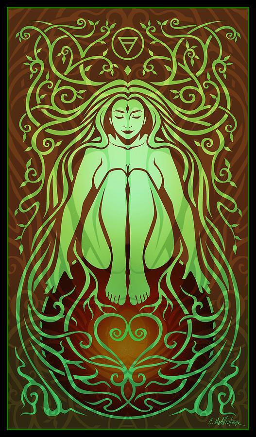 Goddess Digital Art - Earth Spirit by Cristina McAllister