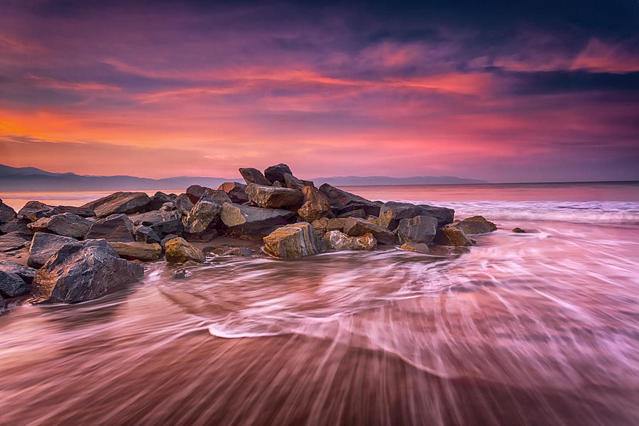 Sunrise Photograph - Earth, Water And Sky by Edward Kreis