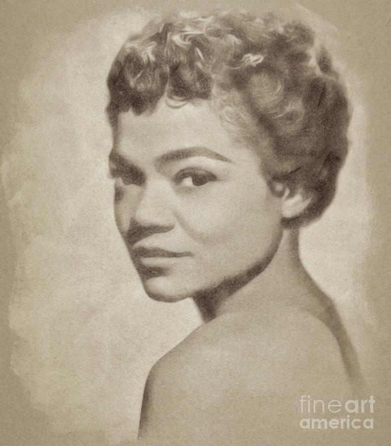 Eartha Kitt, Vintage Actress And Singer Drawing