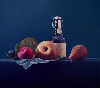 Still Life Painting - Earthian Pleasures by Marcel Franquelin