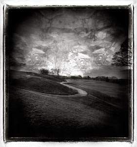 Holga Photograph - Earthly Divide by Lauren Kaplan