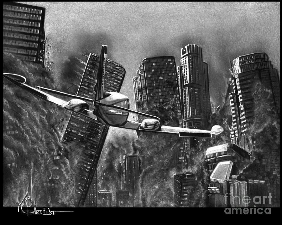 Earthquake Drawing By Murphy Elliott