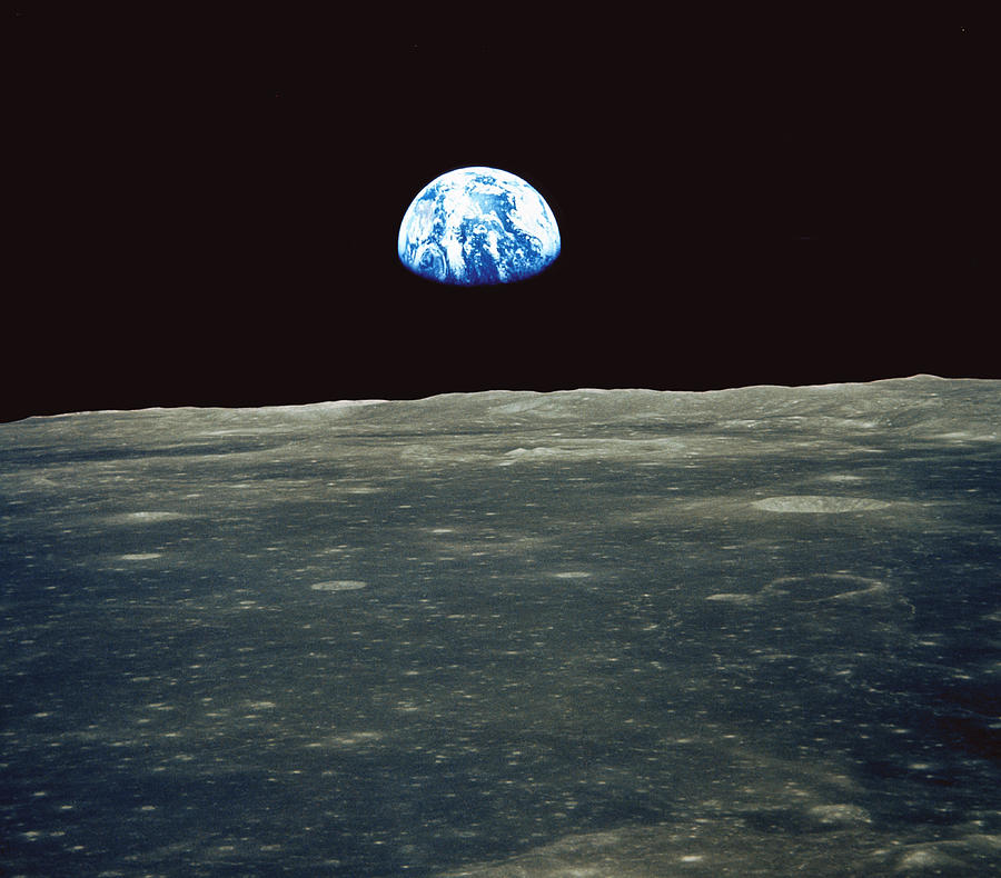 Earthrise Photograph - Earthrise Photographed From Apollo 11 Spacecraft by Nasa