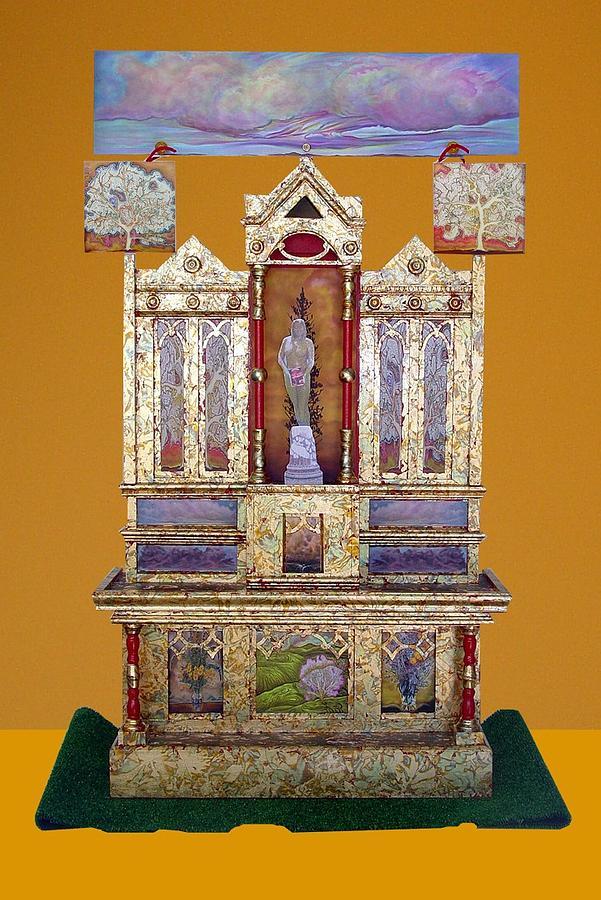 Sculpture Sculpture - Earths Altar Gold by Linda Vallejo
