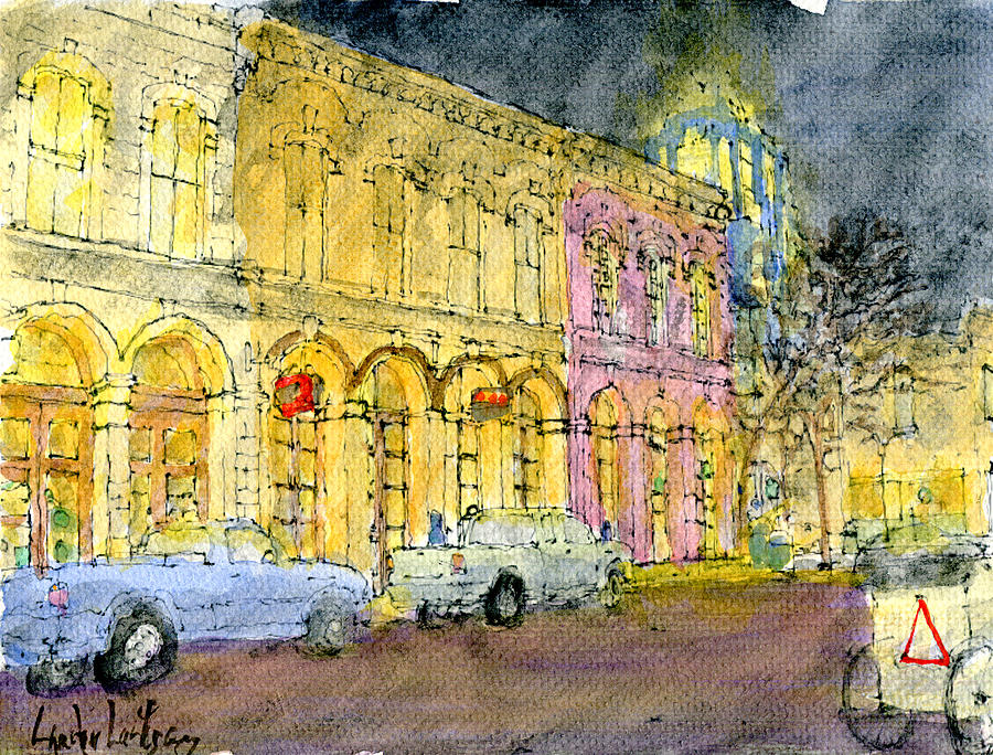 East 6th Street At Trinity St., Austin, Texas Painting by Lander ...