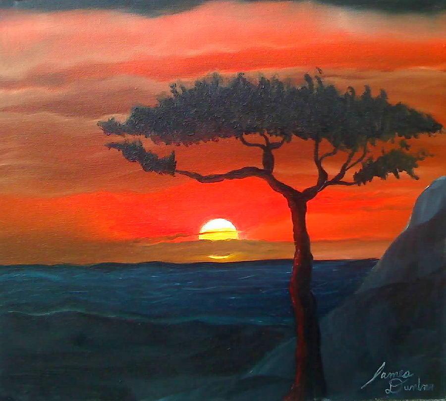 Africa Painting - East African Sunset by Dunbars Modern Art
