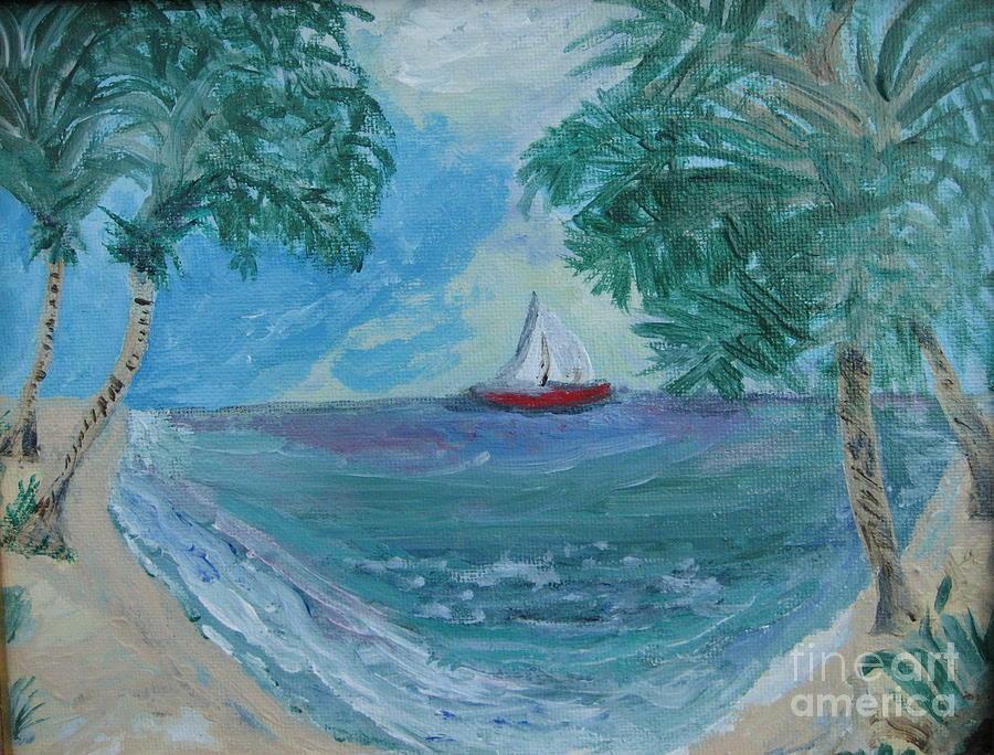 East Bay Painting - East Bay Bay County Florida by Elizabeth A Gawronski