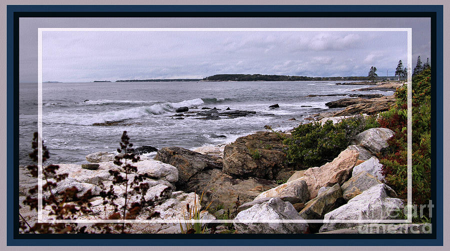 Photograph Photograph - East Boothbay, Maine Ocean View, Framed by Sandra Huston