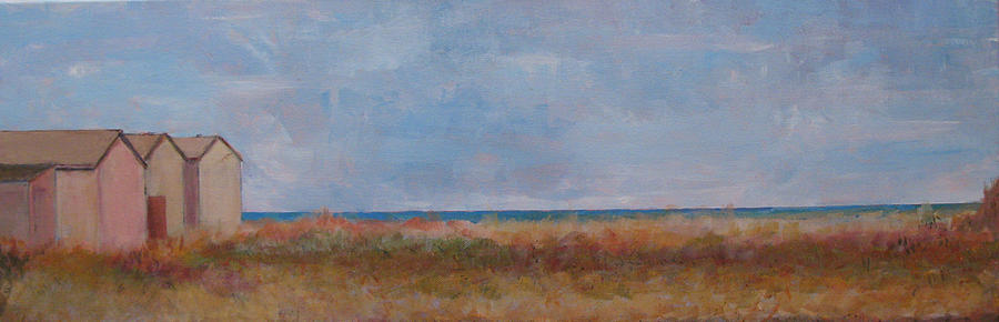East Chop Painting - East Chop Beach Club - October by Bill Revill