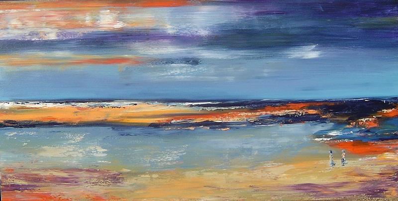Seascape Painting - East Coast by Bridgette  Allan