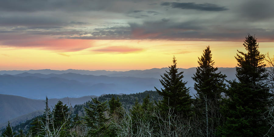 Great Smoky Mountains Photograph - East Forney Sunset by Kristina Plaas