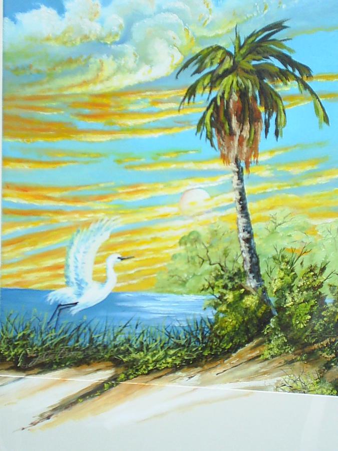 Landscape Painting - East Lake by Dennis Vebert