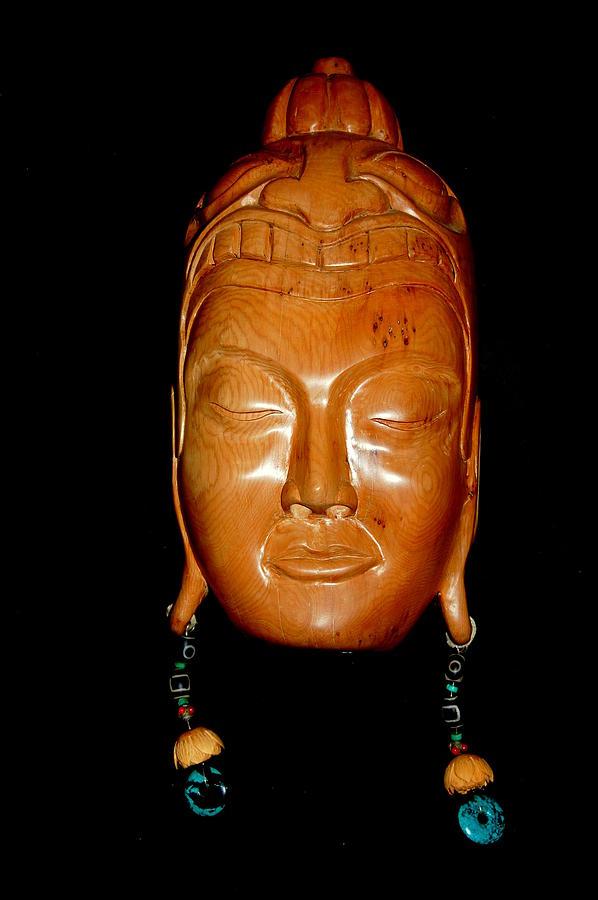 Wood Carving Sculpture - East Meet West by Owen Lohrenz