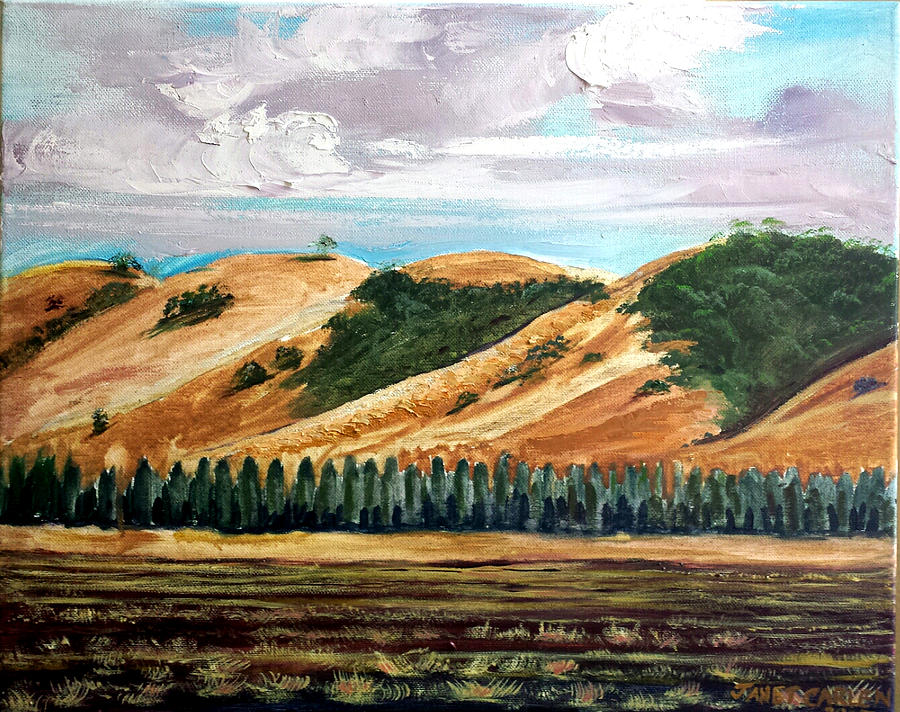 Salinas Valley Painting - East Of Eden by Janet Carlen