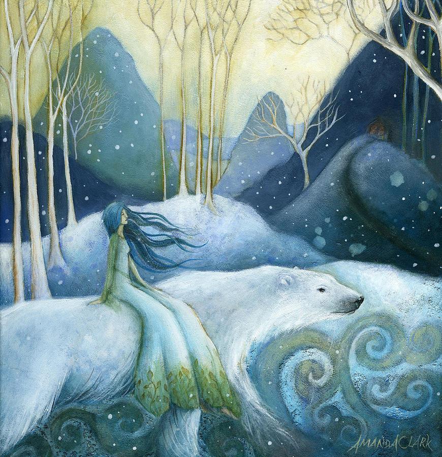 Polar Bear Painting - East Of The Sun West Of The Moon by Amanda Clark