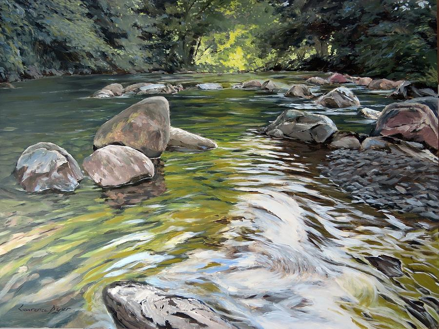 River Painting - East Okement River by Lawrence Dyer