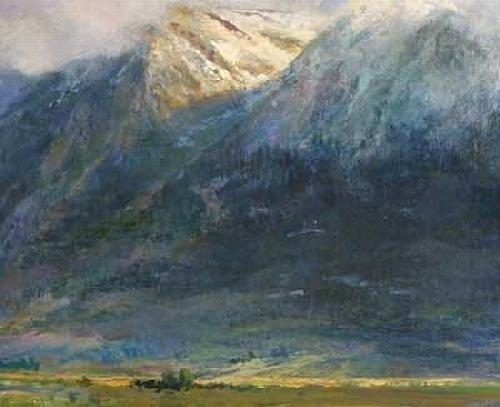 East Side Of The Sierras Painting by Gil Dellinger