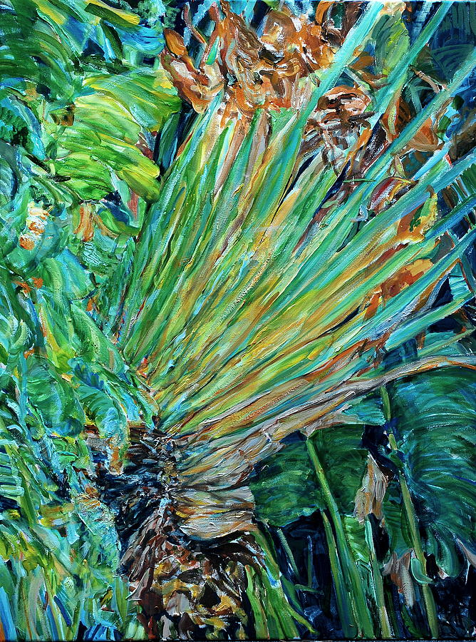 Fauna Painting - East West by Caroline Comings