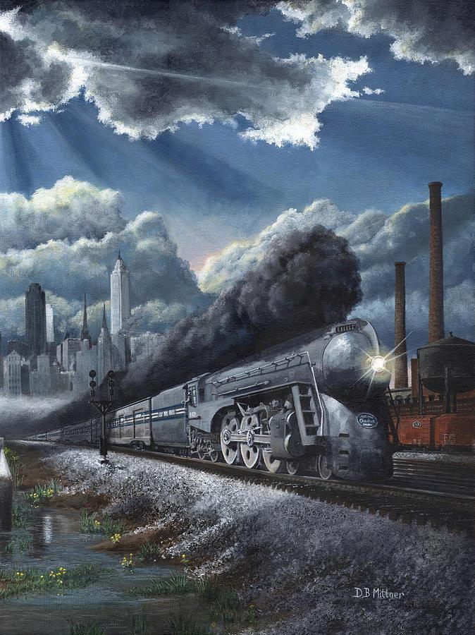 Train Painting - Eastbound Twentieth Century Limited by David Mittner