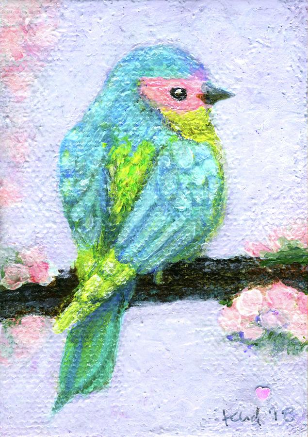 Bird Painting - Easter Bird by Kato D