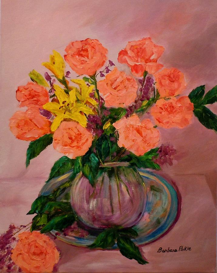 Roses Painting - Easter Bouquet by Barbara Pirkle