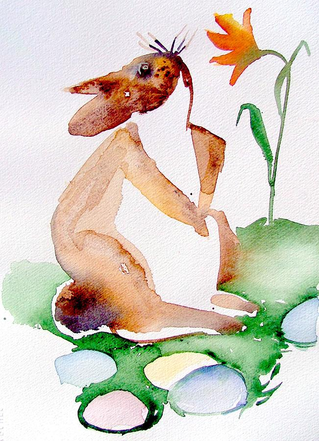 Bunny Painting - Easter Bunny by Mindy Newman