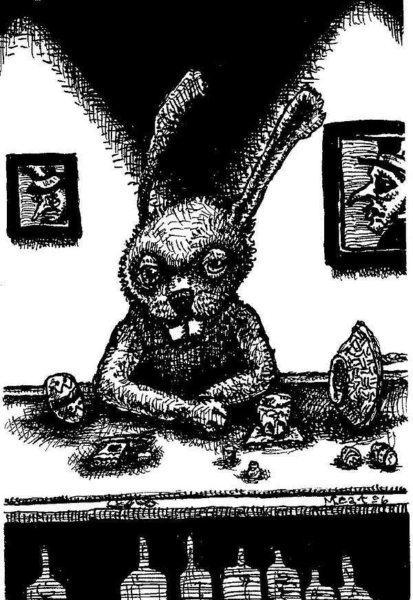 Easter Bunny Offseason Painting by Meat-Jeffery Paul Gadbois
