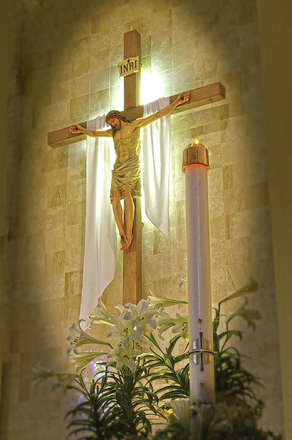 Catholic Photograph - Easter Candle by Don Wolf