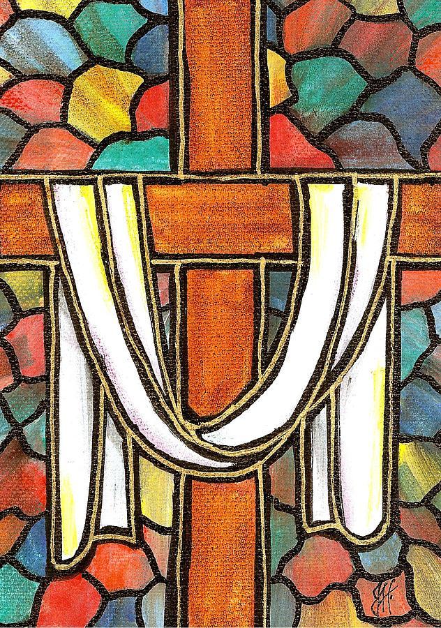 Easter Cross 6 Painting By Jim Harris