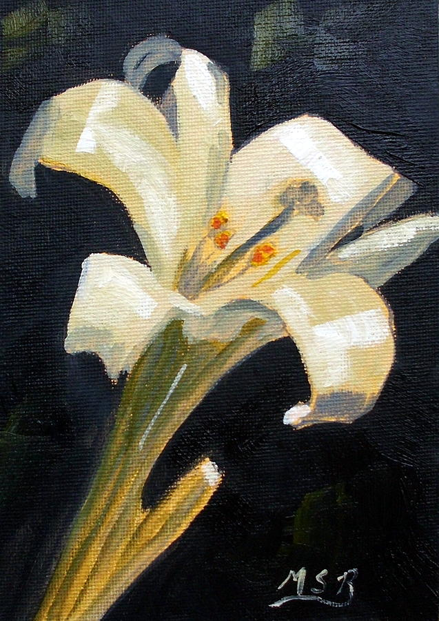 Easter Lilly Painting - Easter Lilly by Maria Soto Robbins