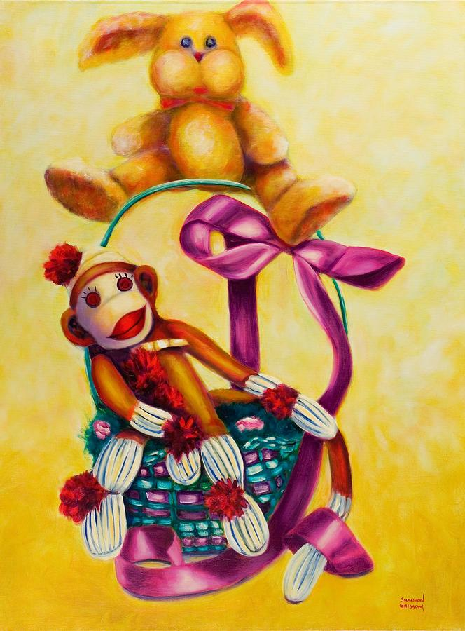 Easter Painting - Easter Made Of Sockies by Shannon Grissom