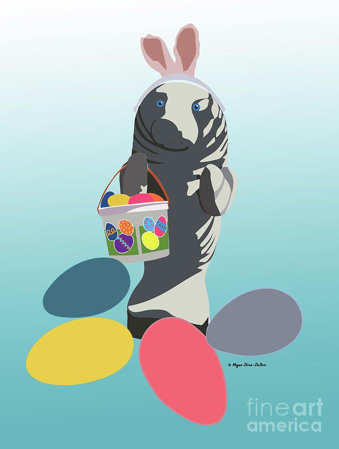 Easter Manatee by Megan Dirsa-DuBois