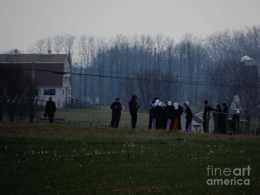 Amish Photograph - Easter Monday Family Gathering by Christine Clark