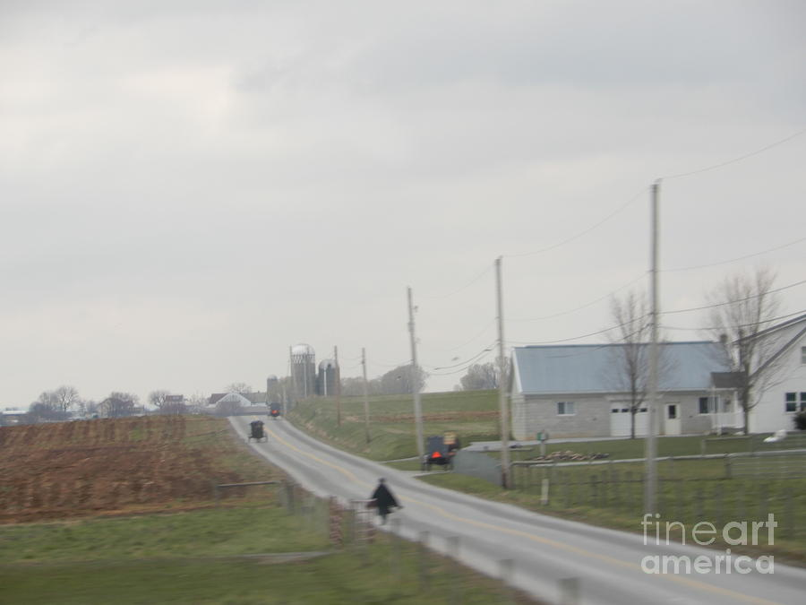 Amish Photograph - Easter Monday Travel by Christine Clark