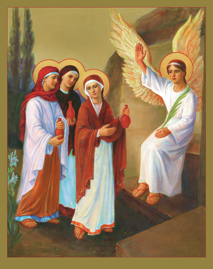 Easter Painting - Easter - Myrrh Bearing Women by Svitozar Nenyuk